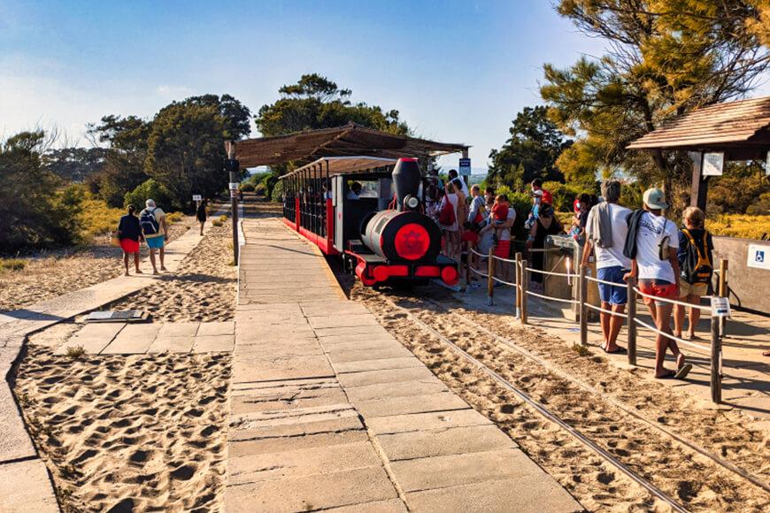 Miniature train at Praia de Barril